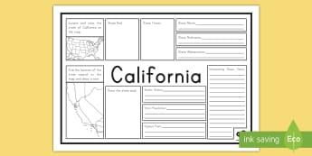 California Facts Activity Mat - california, state of california, california state facts, california activity mat, uSA states