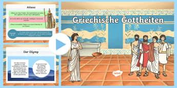 Griechische Gottheiten PowerPoint Präsentation - Gott, Götter, Göttin, Religion, Geschichte, Römer, Griechen