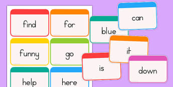 Dolch Word Flashcards Pre-Primer - dolch, english, word, flashcards, fluency, read, key, preprimary, reading, usa