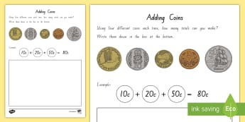 Adding New Zealand Coins Worksheet / Activity Sheets - New Zealand Money, adding strategies, money word problems, adding coins, nz coins