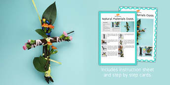 Natural Materials Cross Craft Instructions - craft, instructions