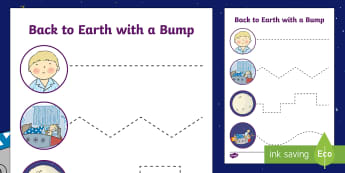 Back to Earth with a Bump Cutting Skills Activity Sheet - Twinkl Originals, Fiction, scissors, fine motor, skills, space