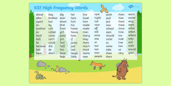 High Frequency Word Mat to Support Teaching on The Gruffalo - storybooks