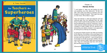 Our Teachers Are Superheroes eBook - super heroes, super hero, adventure, story, rescue,