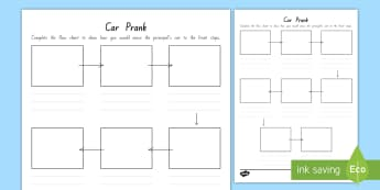 Term 1 Year 3 and 4 Chapter Chat Week 1 Prank with the Principal's Car Activity Sheet to Support Teaching On The Terrible Two by Mac Barnett and Jory John - chapter chat, reading, literacy, the terrible two, mac barnett, jory john, worksheet