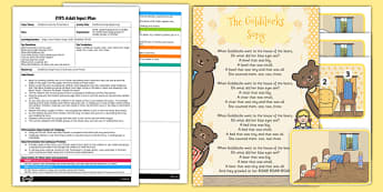 Goldilocks Song Sequencing EYFS Adult Input Plan and Resource Pack - EYFS, Early Years planning, adult led, fairytales, traditional stories.