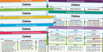 Clothes Lesson Plan and Enhancement Ideas EYFS - clothes, eyfs, lesson plan, idea, planning