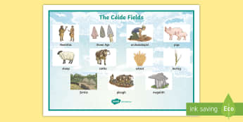 The Céide Fields Word Mat - ROI - The World Around Us - The Ceide Fields, stone age, neolithic, farmers, stone, mayo, history, s