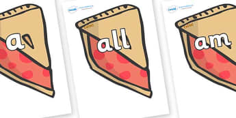 Foundation Stage 2 Keywords on Cherry Pie to Support Teaching on The Very Hungry Caterpillar - FS2, CLL, keywords, Communication language and literacy,  Display, Key words, high frequency words, foundation stage literacy, DfES Letters and Sounds, Let