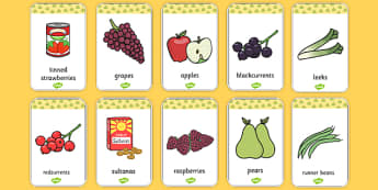 Harvest Produce Flash Cards - harvest, flash cards, cards, autumn