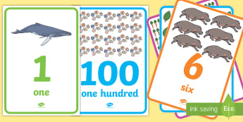 Number and Word Posters 0 to 100 with Images Display Posters - number, word, posters, Australia