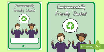Environmentally Friendly Student Display Poster - Poster, Environment, New Zealand, Sustainability, Friendly, All Ages, student