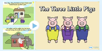 The Three Little Pigs Story PowerPoint - powerpoint, power point, interactive, the three little pigs, three little pigs, three little pigs powerpoint, traditional tales, traditional tale powerpoint, powerpoint presentation, presentation, slide show,
