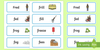 'fr' and 'f' Near Minimal Pair Word Cards - cluster reduction, cluster simplification, fr, minimal pairs