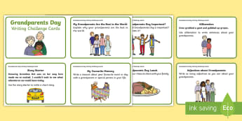 F-2 Grandparents Day Writing Challenge Cards - Grandparents, Day, event, Australia, writing, challenge, text, types,Australia