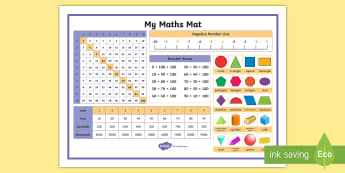 Year 3 Maths Mat - Maths Mat - maths mat, ks2 maths mat, ks2 numeracy mat, counting in tens, general maths mat, numerac
