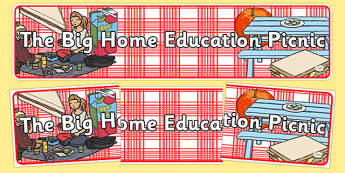 The Big Home Education Picnic Display Banner - the big home education picnic, event, home educators, display banner