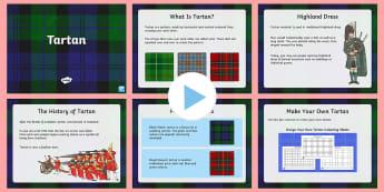 Tartan PowerPoint - scotland, robert burns, history, clans, kilts