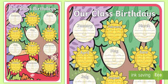 Tales from Africa Birthday Chart A2 Display Poster - birthday chart, tinga tinga, chart, display, birthdays