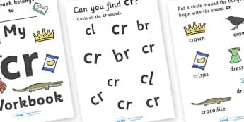 My 'cr' Letter Blend Workbook - workbook, cr, letters, blend, alphabet, activity, handwriting, blends, letter, letter blends