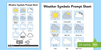 Weather Symbols Activity Sheet - weather, weather symbols, activity, sheet, science, symbols, worksheet