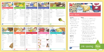New Zealand Recipes Resource Pack - baking, cooking, new zealand, recipes, shortbread, fairy bread, cakes