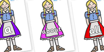 100 High Frequency Words on Gretel - High frequency words, hfw, DfES Letters and Sounds, Letters and Sounds, display words