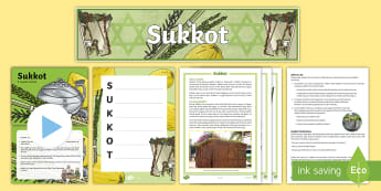CfE Second Level Sukkot Resource Pack - Jewish Festivals, Jews, Judaism, High holydays, Three Pilgrim festivals