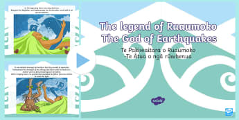 The Legend of Ruaumoko PowerPoint English/Te Reo Māori