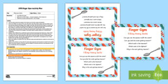 EYFS Filling Heavy Socks Finger Gym Plan and Prompt Card Pack - socks, weight, sand, spoons, scoops, fine motor, funky fingers, finger gym, muscle strength, coordin