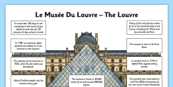 The Louvre Fact File - CfE, second Level, landmarks, monuments, Louvre, Paris, fact sheet, France, scotland, scottish, curriculum, excellence, louvre, paris, landmark, museum, gallery