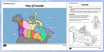 The Desperate Journey Canada Map Poster and Activity Sheet - Highland Clearances, scotland, history, travel, adventure, literature, text, Scottish, cfe, curriculum for excellence, geography, cartography, , worksheet