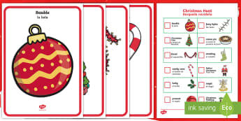 * NEW * Christmas Hunt Activity Pack - English / Spanish - EAL,Christmas Hunt Activity Pack - christmas, hunt, activity, pack, chritmas, chriatmas, christms, c