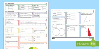 Half Term 2 Lower Ability Maths Activity Mats - order, bidmas, proportion, converting, conversion, pie charts, venn diagram, fractions, construction