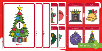 Christmas Syllables Sorting Activity - Center Activity, Early Childhood Literacy, Christmas ELA Game, Early Reading Skills, Circle Time Act