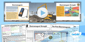 Science: Scientists and Inventors: Electromagnets Year 3 Lesson Pack 6