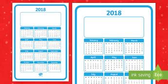 Christmas Gift Calendar 2018 Poster - 2018 Calendar Christmas Gift - 2018, calendar, christmas gift, christmas, new year, year, dates