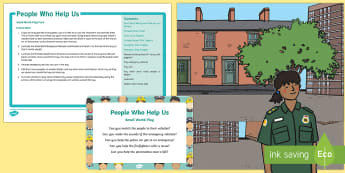 People Who Help Us Small World Play Idea and Printable Resource Pack - People Who Help Us, role, job, primary, what does a teacher do, responsibilities, duties, skills, re