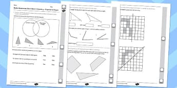 Year 4 Maths Assessment: Geometry - Properties of Shapes Term 2 - year 4, maths, assessment, geometry