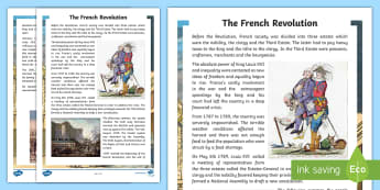 The French Revolution Fact File French - History, France, revolution, monarchy, Louis XVI