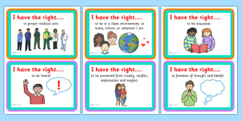 I have the Right Discussion Cards - rights, children's rights, rights discussion cards, what I have the right to, discussion prompts about rights, pshe