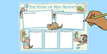 The Story of Miss Moppet Book Review Writing Frame - miss, moppet, book, writing, frame, review, beatrix potter