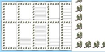 Injured Soldier Portrait Page Borders- Portrait Page Borders - Page border, border, writing template, writing aid, writing frame, a4 border, template, templates, landscape