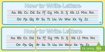 Cursive Alphabet Banner - cursive, alphabet, strip, handwriting, writing area, eyfs, ks1