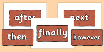 Conjunctions on Bricks - Connectives, VCOP, connective resources
