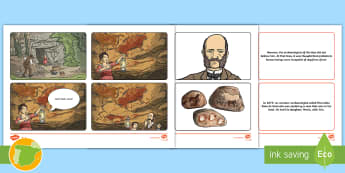 ES Altamira Cave Paintings Story Sequencing Cards - Altamira, stone age, prehistory, Spanish history, Palaeolithic, cave paintings, bison, archaeologist