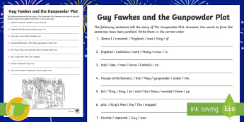 A2 Ficha de actividad: Guy Fawkes - Inglés - English culture, celebrations, festivals, November, remember, celebraciones, cultura británica, his