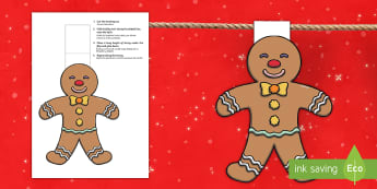 Christmas Gingerbread Man Display Bunting English/Spanish - christmas, xmas, bunting, gingerbread, gingerbread man, gingerbread men, EAL