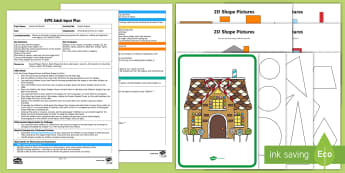 Sweet Shapes Adult Input Plan and Resource Pack - EYFS, Hansel and Gretel, fairy tale, traditional tale, Brothers Grimm,, maths, mathematics, shape sp