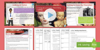 AQA P1 Reading Booklet Lesson Pack to Support Teaching on 'Lullaby'  - AQA P1 Reading Booklet, paper one, GCSE English Language, Paper 1, AQA, mock exam, sample exam, prac